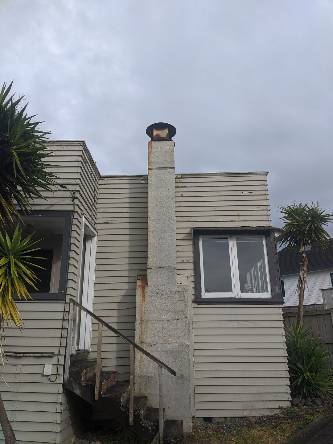 Stredwick Drive - Structurally unsound concrete chimney demolition, temporary weatherproofing